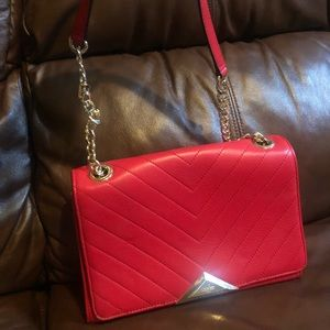 Red Karl Lagerfeld Charlotte shoulder purse